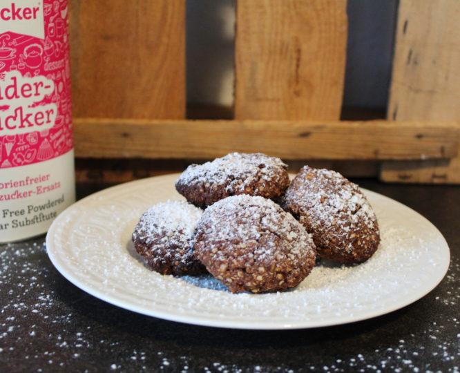 Weihnachtliche Schoko-Haferflocken-Kekse