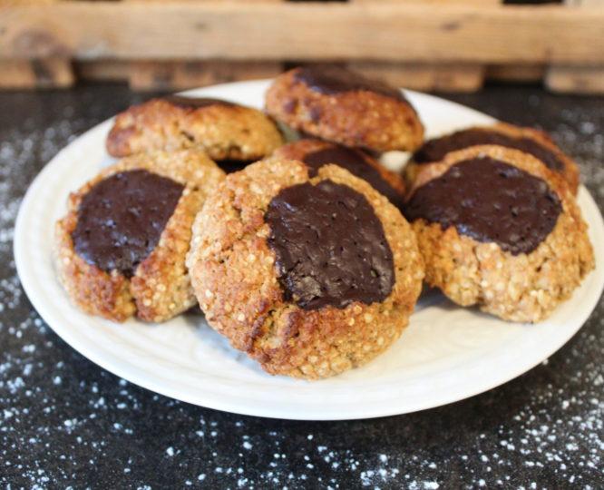 Weihnachtliche Haferflocken-Kekse