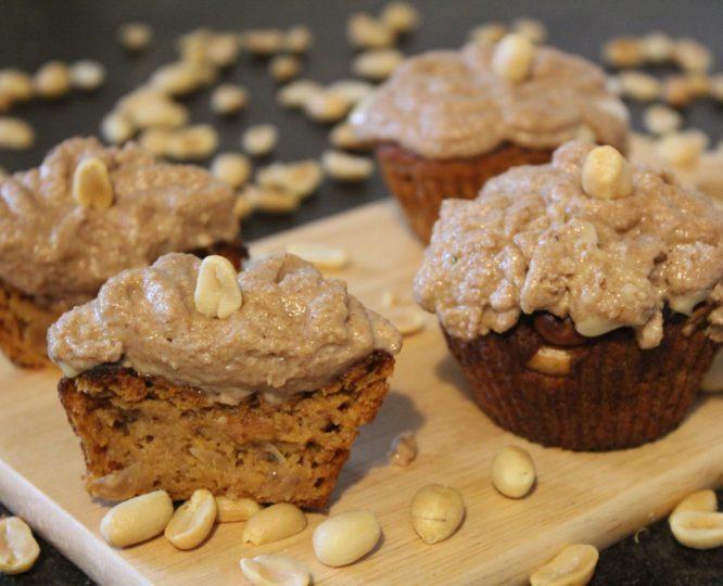 Vegane Erdnuss Fitness Cupcakes