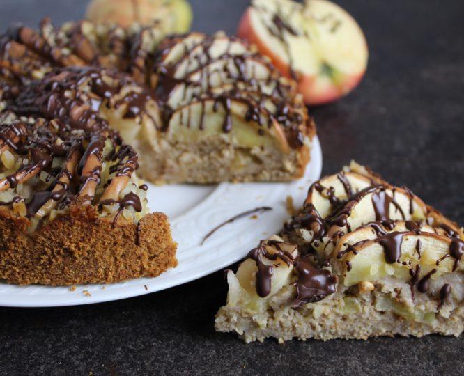 Veganer Fitness Apfel-Mandelkuchen