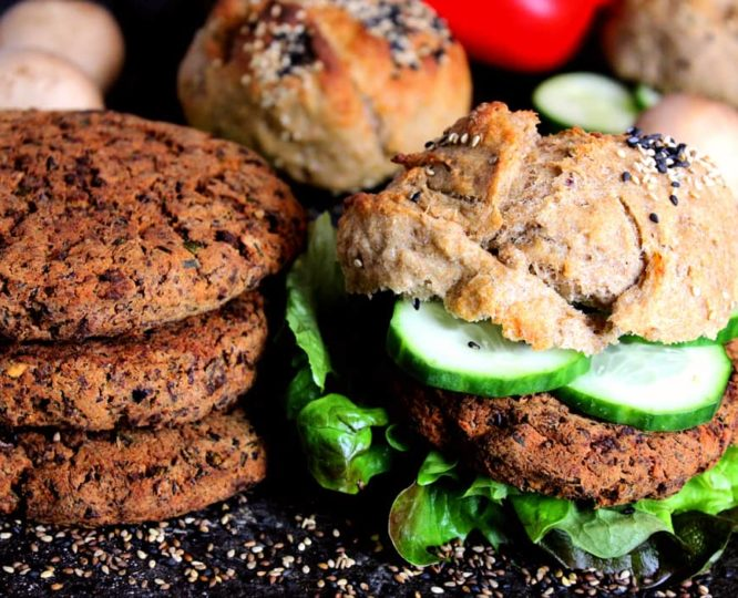 Vegane Linsen-Burger Patties