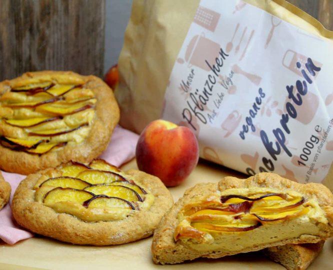 Vegane Pfirsich-Fruchtplunder