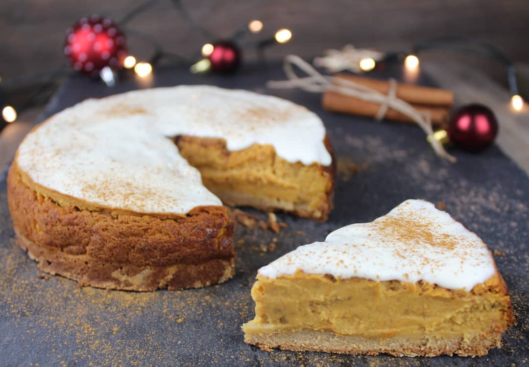 Süßkartoffelkuchen mit veganem kalorienarmen Frosting