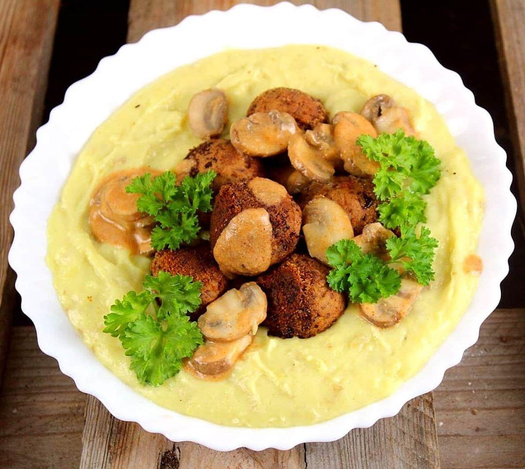 Vegane Protein Bohnenbällchen