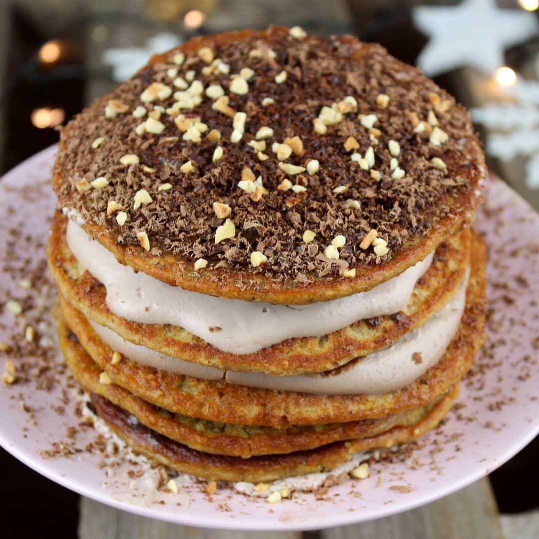 Vegane protein Haselnusspancakes