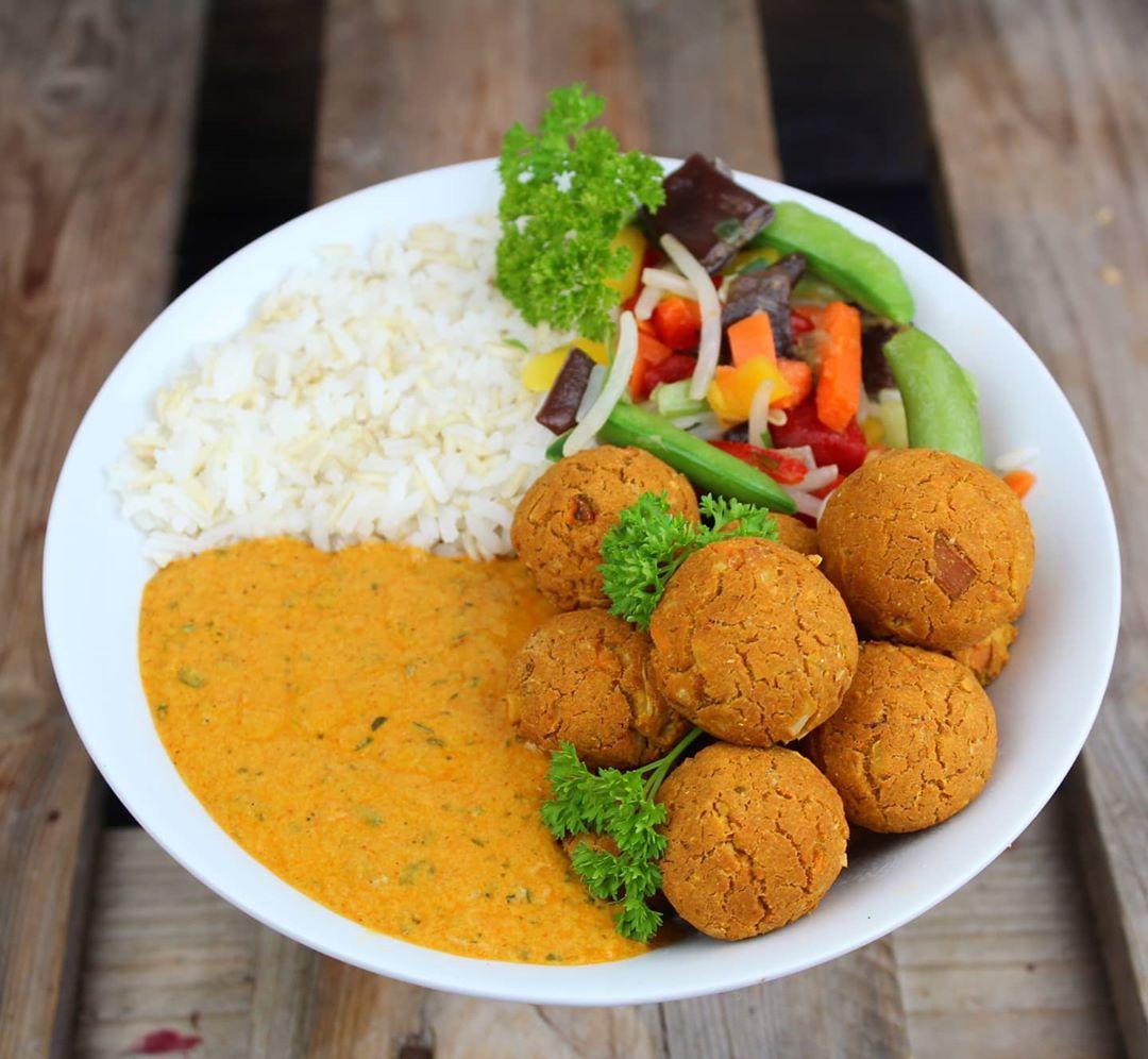 Vegane Protein Gemüse Falafel