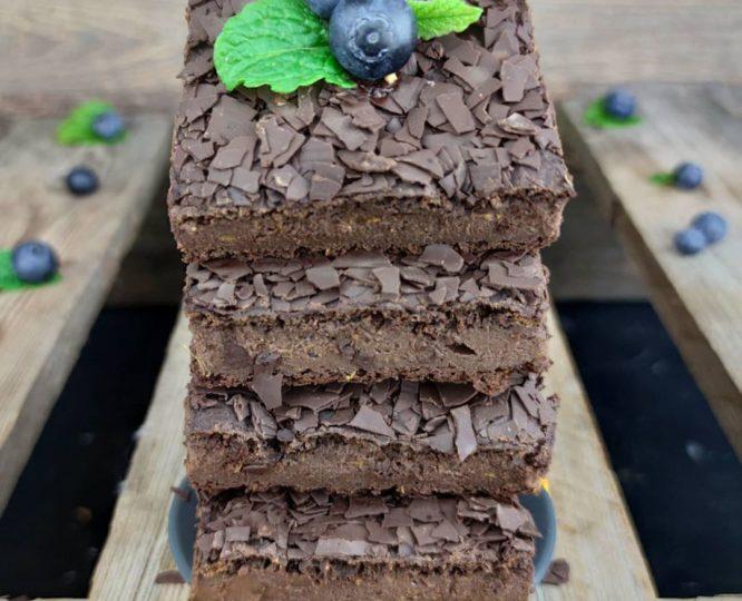 Vegane Protein Süsskartoffelbrownies